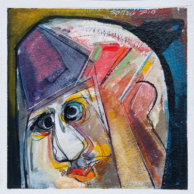 Heads 2010 000004 Acrylic on paper 8x8 $650